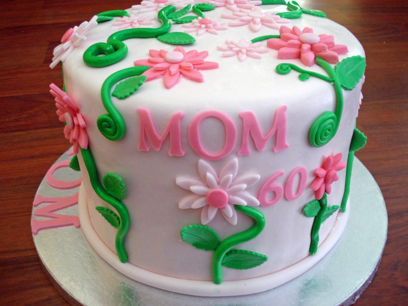 Birthday Cake For Mom  Mom s 60th birthday cake Cake Decorating munity
