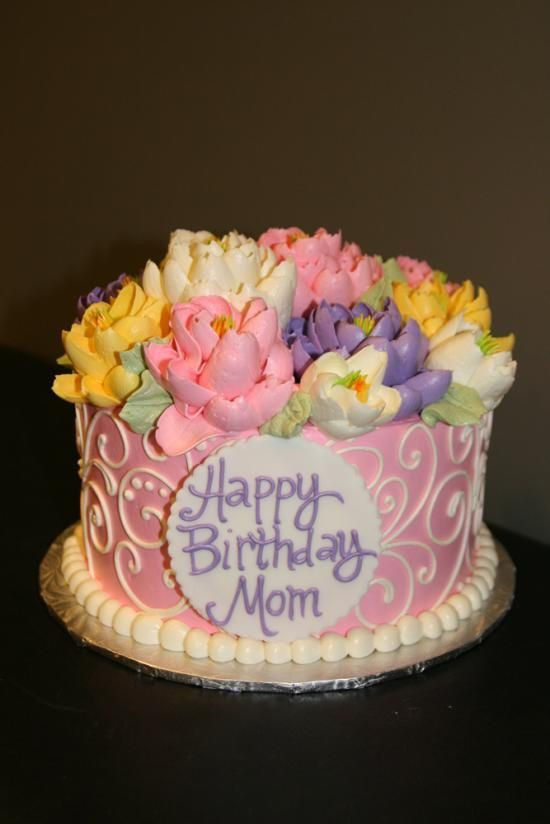 Birthday Cake For Mom  Happy Birthday Cake for