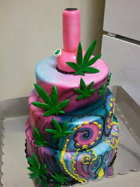 Birthday Cake Kush  Stoner Cookbook Rainbow Weed Cakes