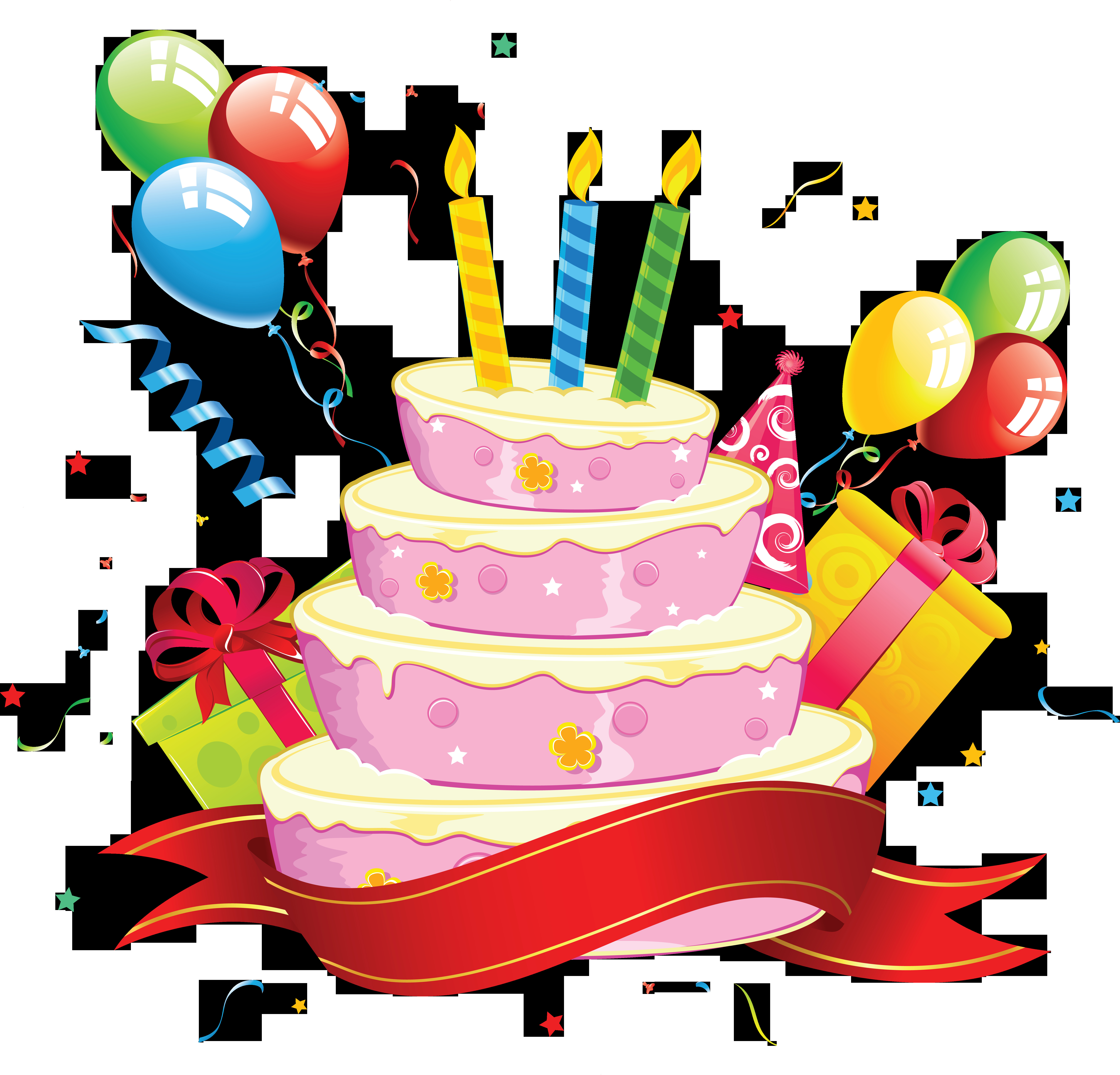 Birthday Cake Png  PNG HD Birthday Cake And Balloons Transparent HD Birthday
