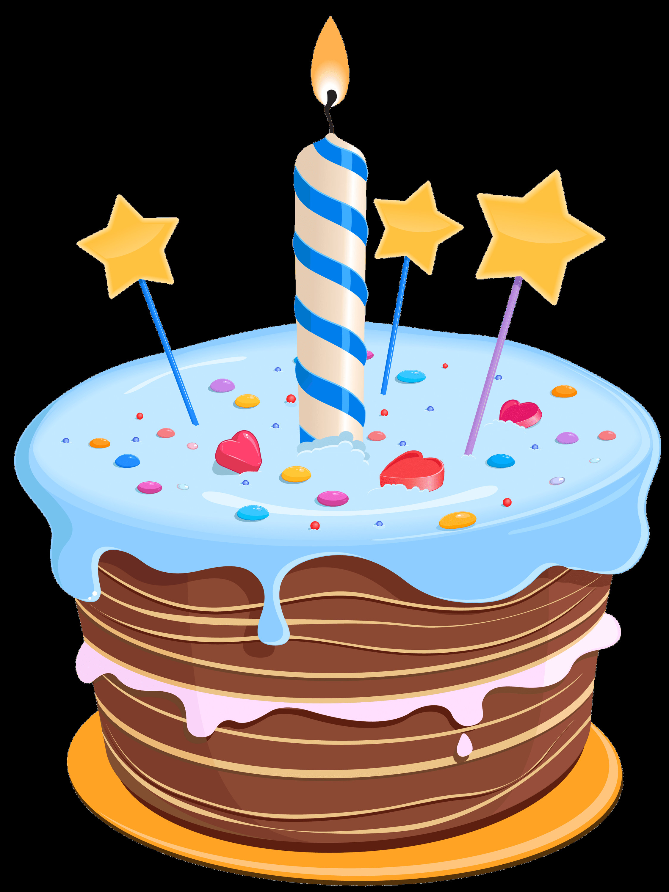 Birthday Cake Png  Birthday Cake Drawing Blue transparent PNG StickPNG
