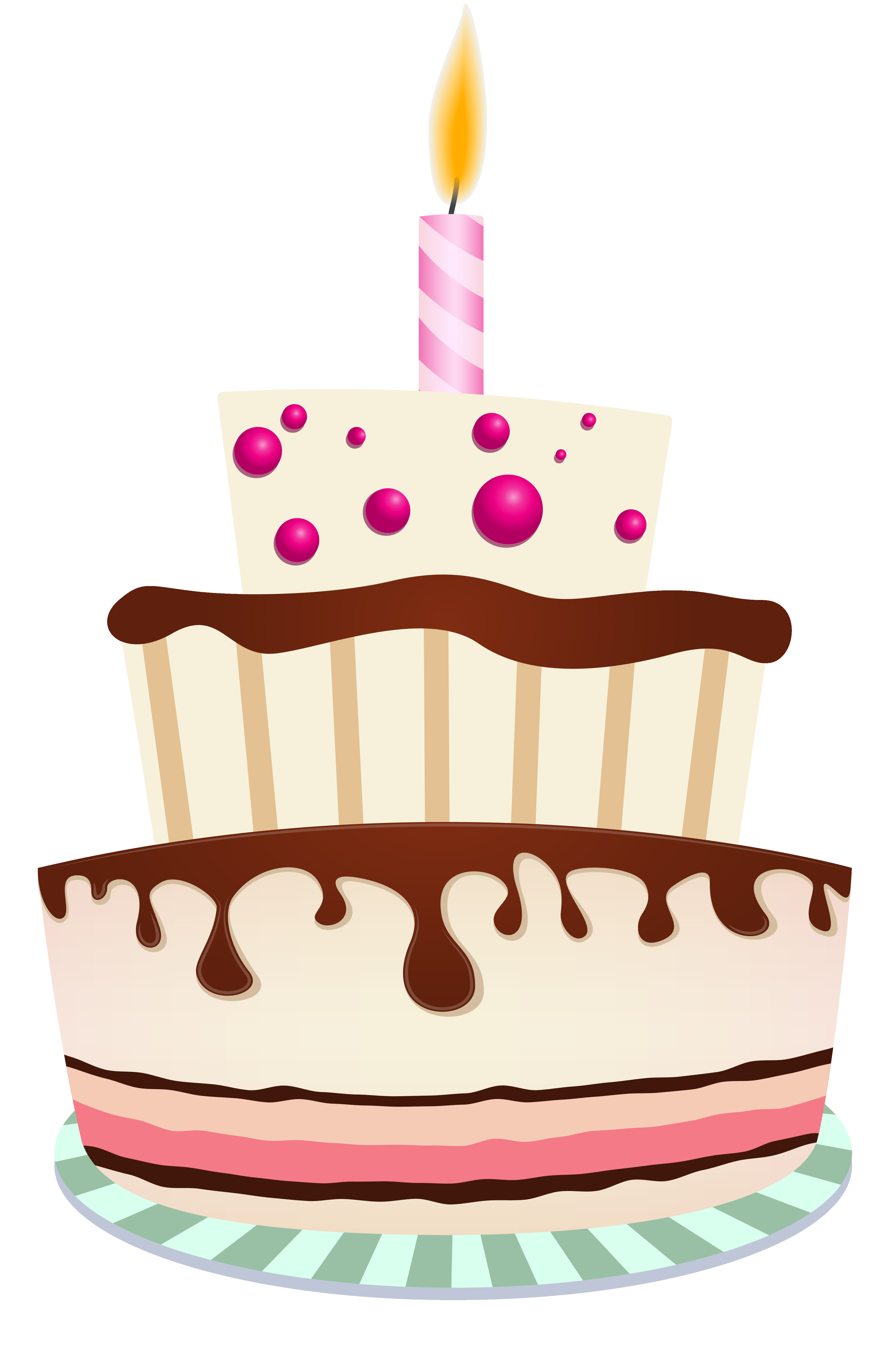 Birthday Cake Png  Birthday Cake with e Candle PNG Clipart Image