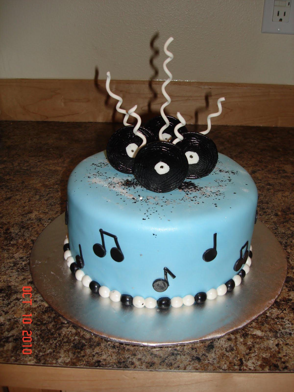Birthday Cake Song  Custom Cakes By Denise music birthday cake