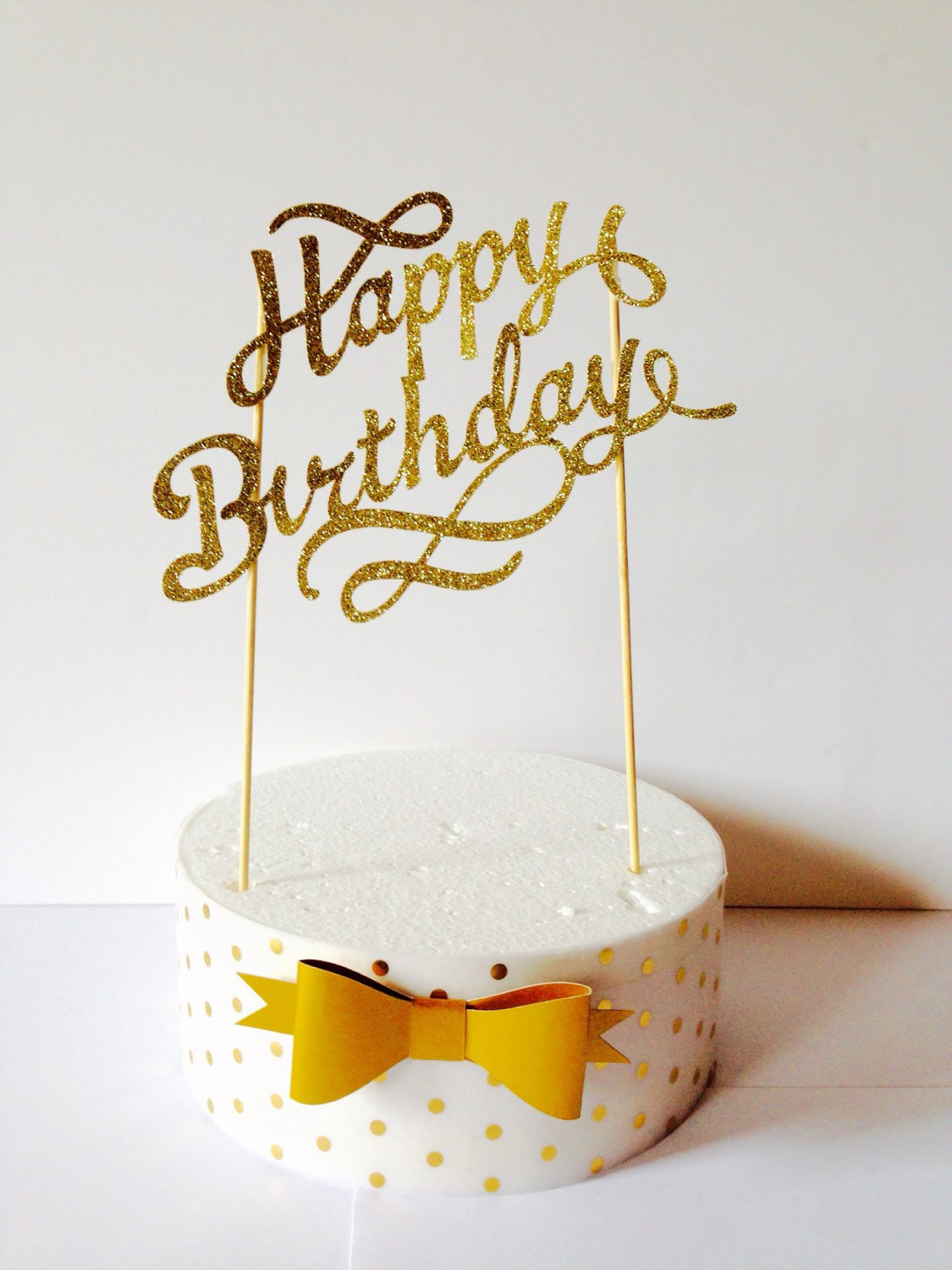 Birthday Cake Toppers  gold happy birthday cake topper fancy cake topper1st