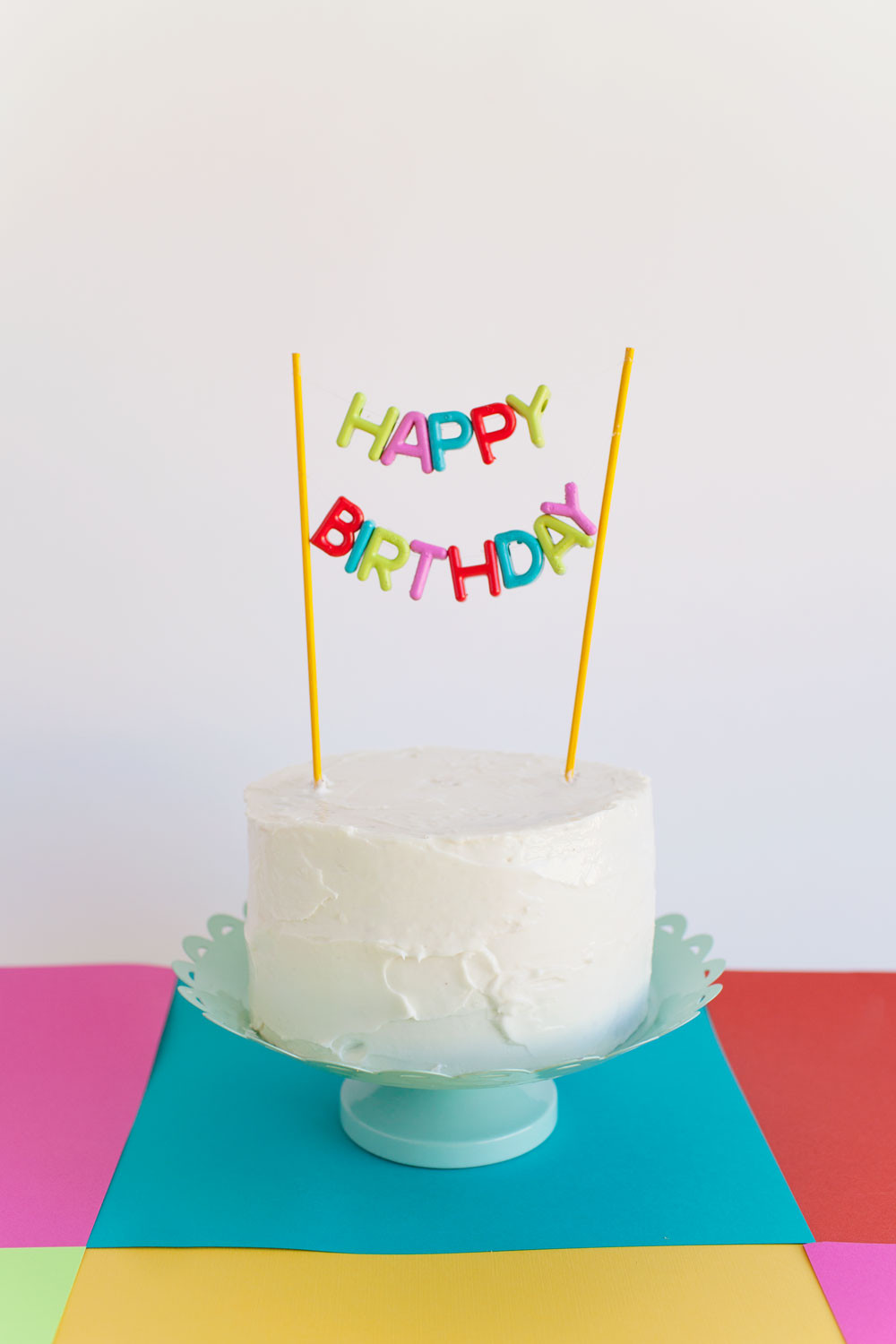 Birthday Cake Toppers  ALPHABET BEAD CAKE TOPPER DIY Tell Love and Party