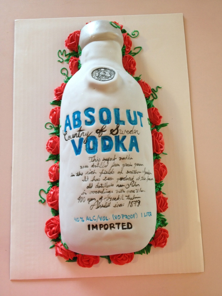 Birthday Cake Vodka  Absolut Vodka Cake CakeCentral