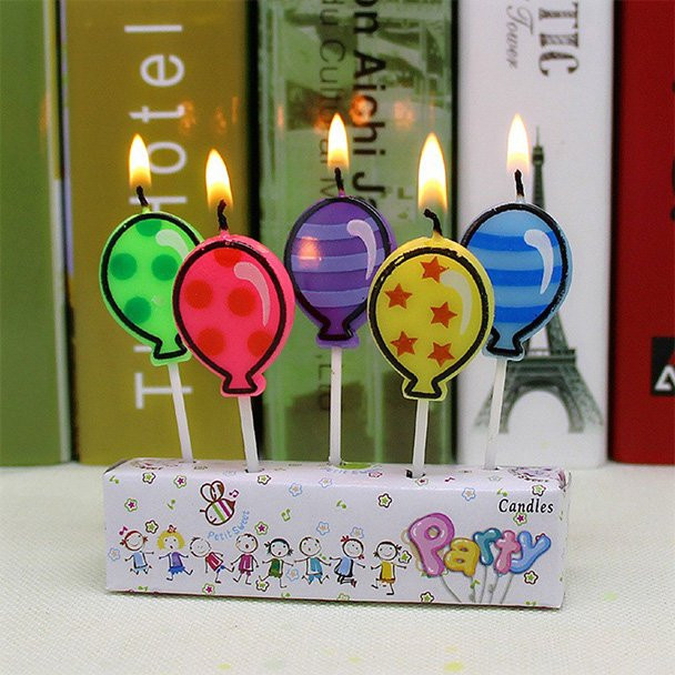 Birthday Cake With Candles And Balloons  Balloon Candles make any birthday cake more special