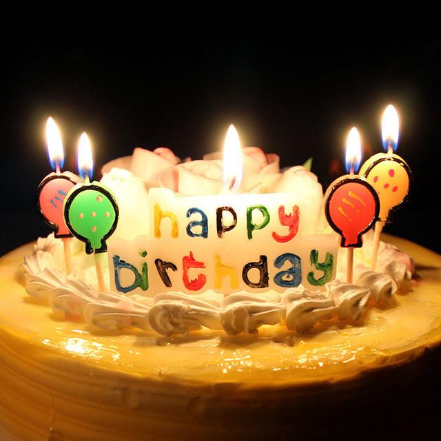 Birthday Cake With Candles And Balloons  XUNZHE Birthday Cake Candles Creative Kid s Happy Birthday