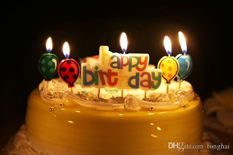 Birthday Cake With Candles And Balloons  Birthday Candle Balloons Candles Decorative Wax Candles