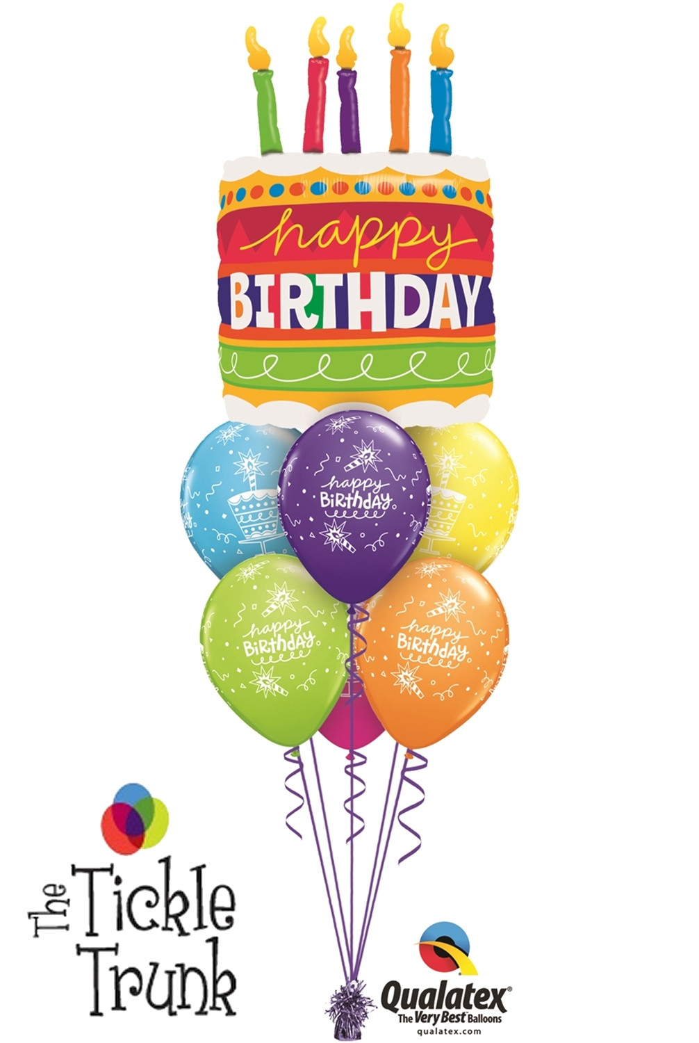 Birthday Cake With Candles And Balloons  Birthday Cake & Candles Balloon Bouquet