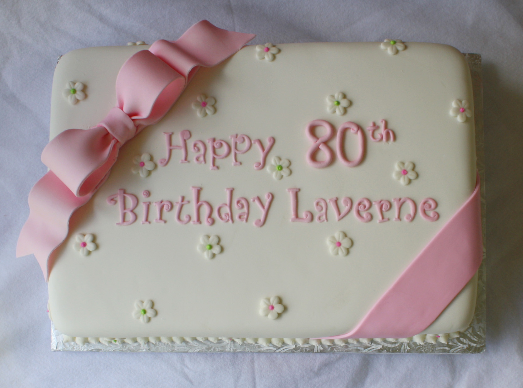 Birthday Sheet Cake  Pink & Green Sheet Cakes for 1st and 80th Birthdays