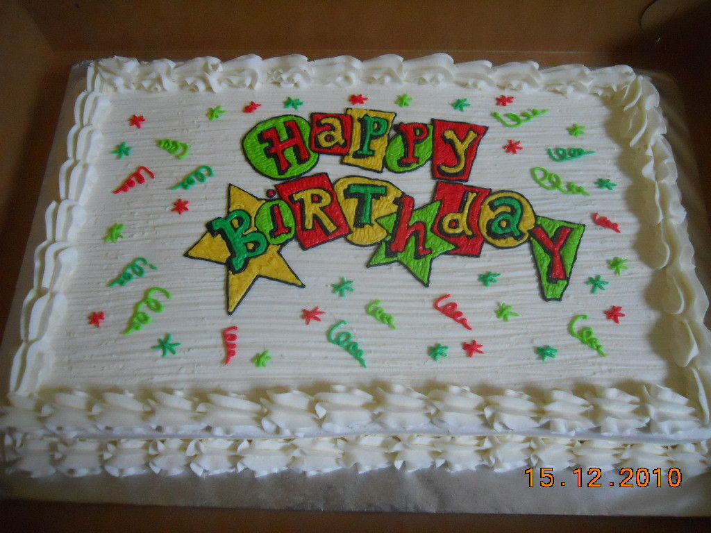 Birthday Sheet Cake  Happy Birthday Full Sheet Cake Cake Decorating