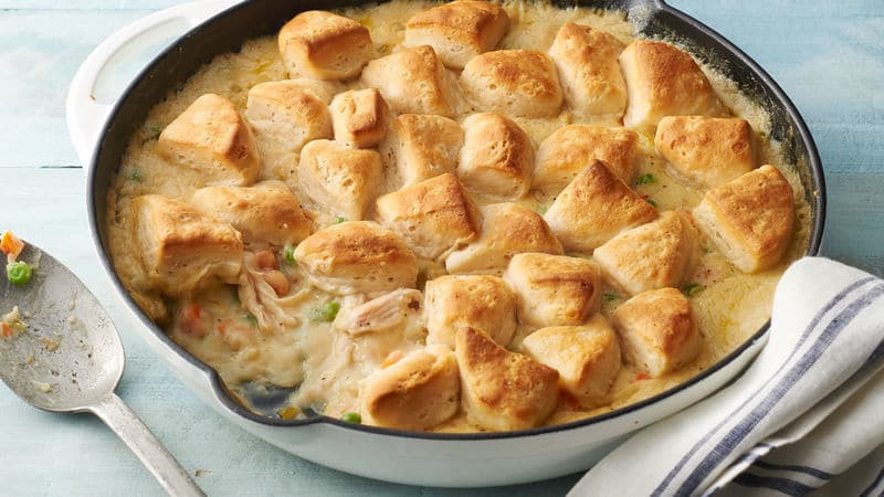 Biscuit Chicken Pot Pie  30 Things You Didn't Know You Could Make with Pillsbury