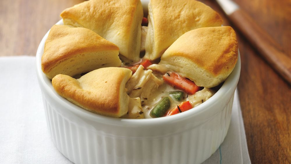 Biscuit Chicken Pot Pie  Chicken Pot Pie with Biscuits recipe from Pillsbury