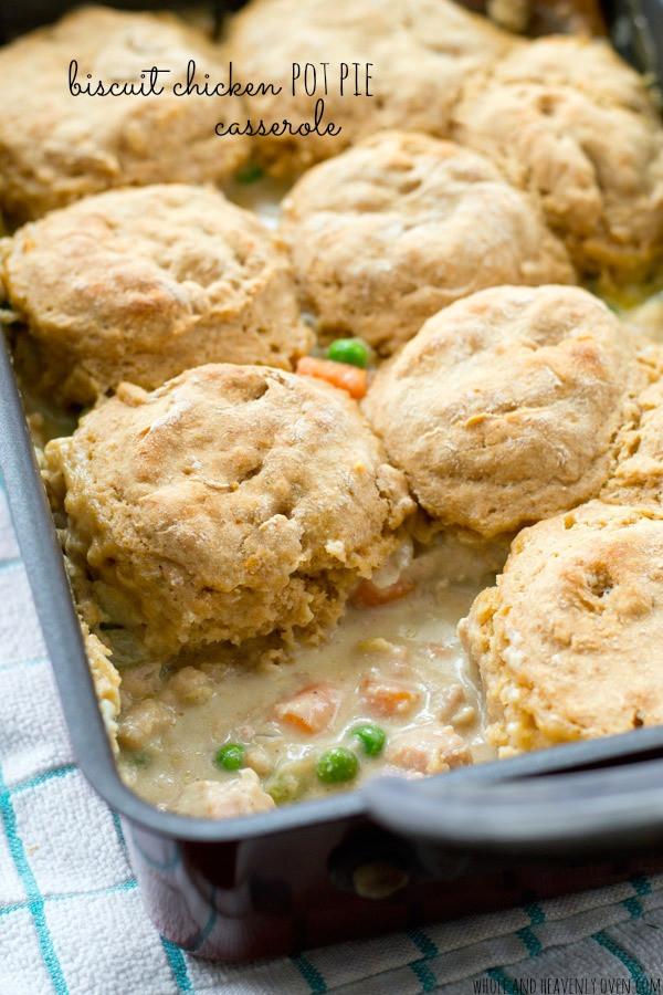 Biscuit Chicken Pot Pie  homemade chicken pot pie with biscuits