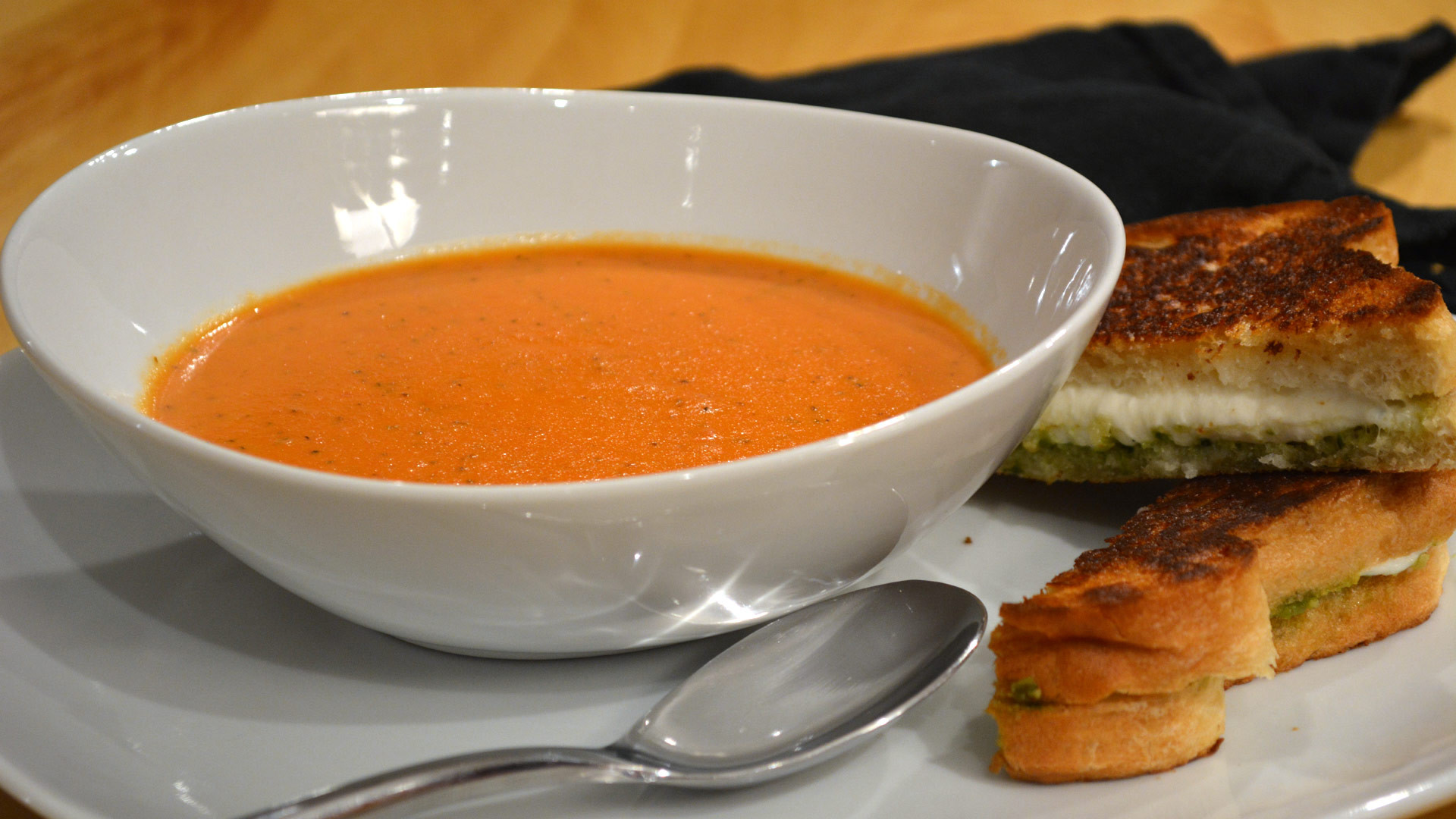 Bisque Vs Soup  Tomato Bisque and Pesto Dippers