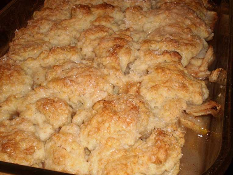 Bisquick Apple Cobbler  Apple Crisp no pie crust but just as delicious MI Coop