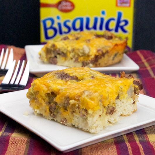 Bisquick Breakfast Recipes  Bisquick Sausage Squares Recipe