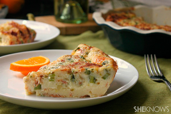 Bisquick Breakfast Recipes  Bisquick quiche with asparagus cheddar and crispy