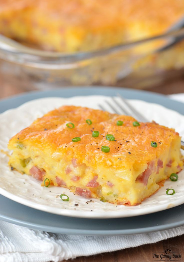 Bisquick Breakfast Recipes  Ham and Potato Breakfast Casserole Recipe