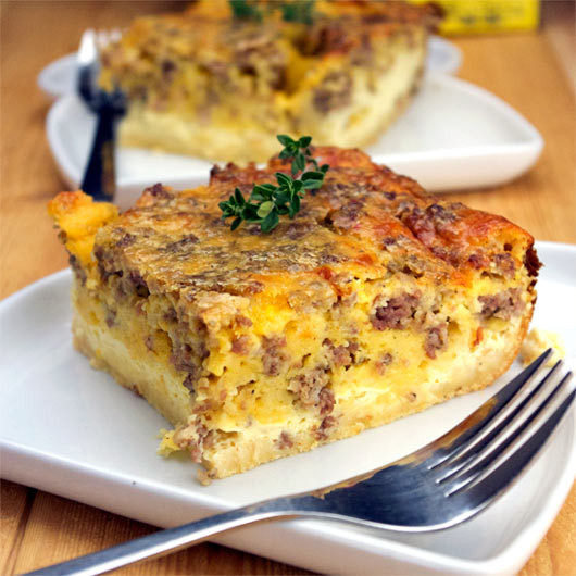 Bisquick Breakfast Recipes  sausage egg cheese casserole bisquick