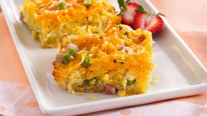 Bisquick Breakfast Recipes  Do Ahead Breakfast Bake recipe from Tablespoon