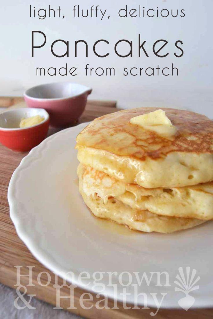 Bisquick Buttermilk Pancakes  Light fluffy delicious pancakes Recipe
