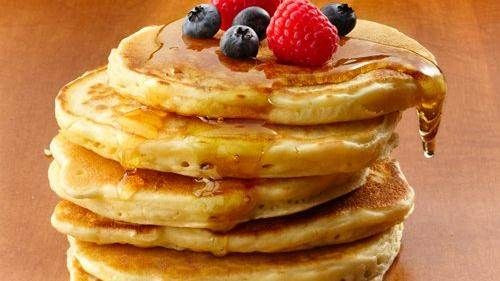 Bisquick Buttermilk Pancakes  Oatmeal Brown Sugar Pancakes with Banana Walnut Syrup