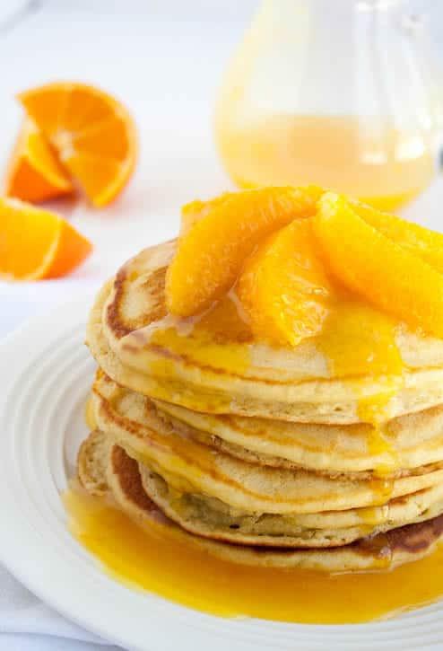 Bisquick Buttermilk Pancakes  orange pancakes with bisquick