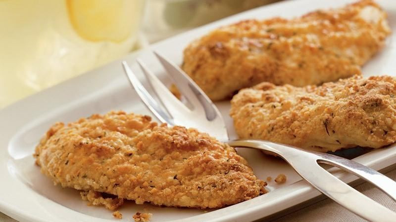 Bisquick Fried Chicken  Oven Fried Picnic Chicken recipe from Betty Crocker
