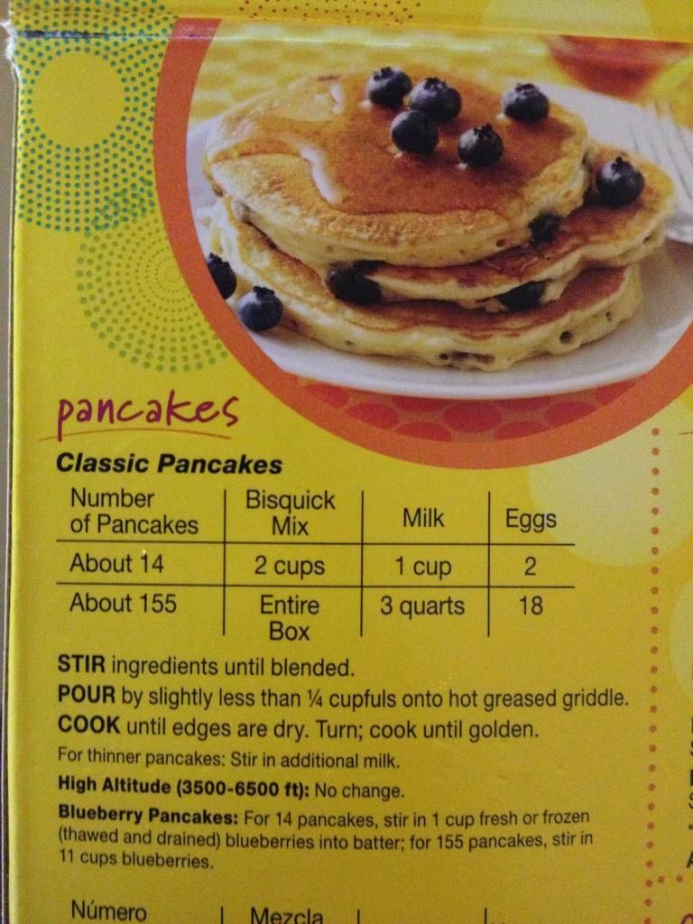 Bisquick Pancakes Recipe  So do you want about 14 pancakes or in 2019