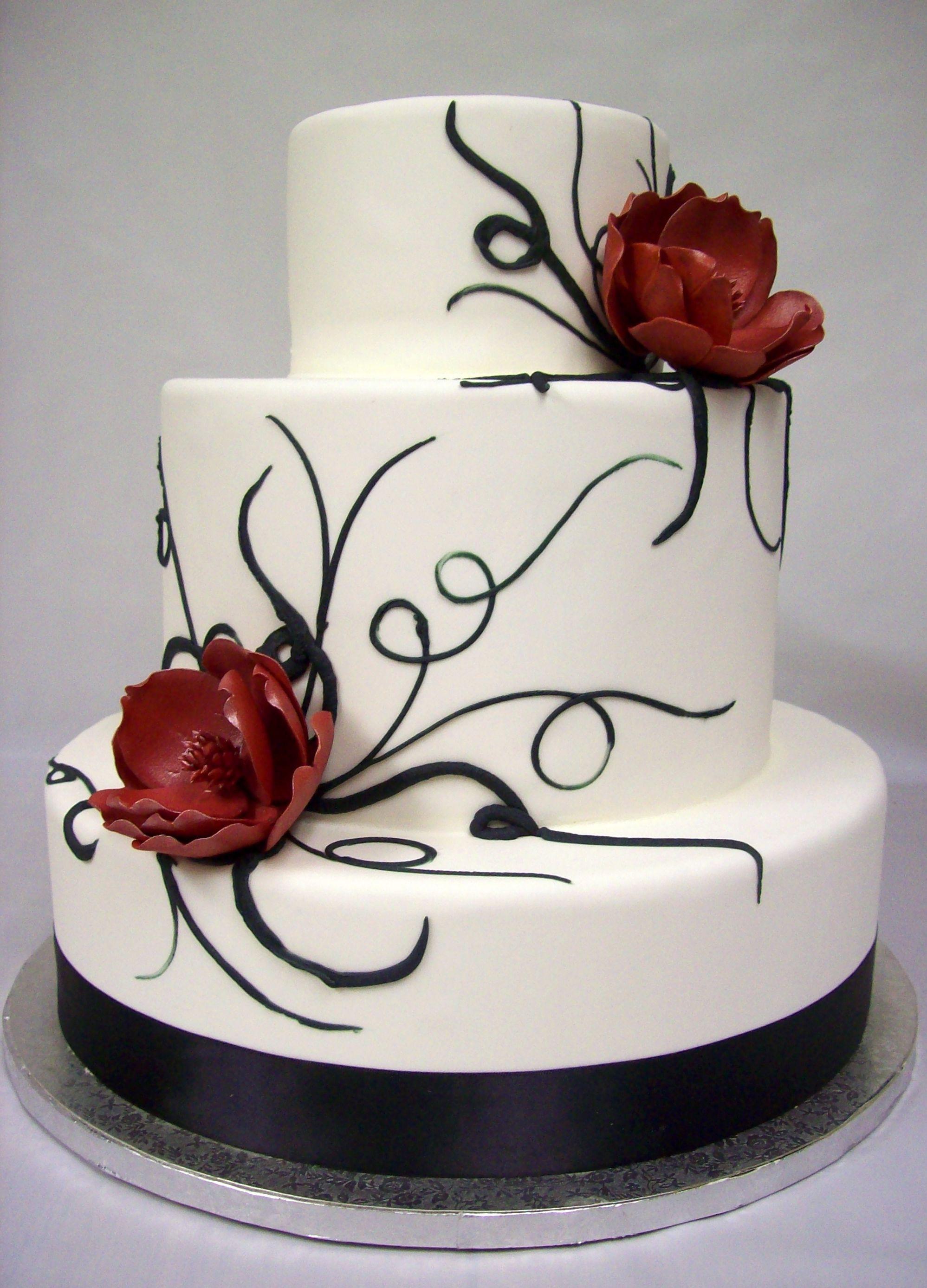 Black And White Cake  Black And White Wedding Cakes