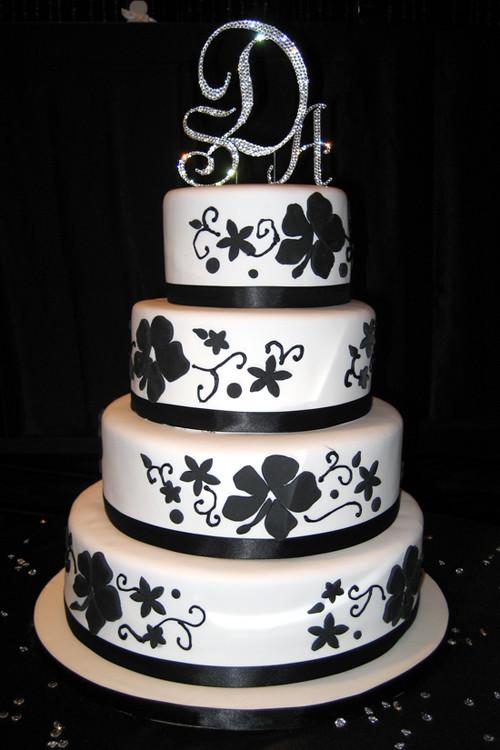 Black And White Cake  Amazing Black And White Wedding Cakes [40 Pic] Awesome