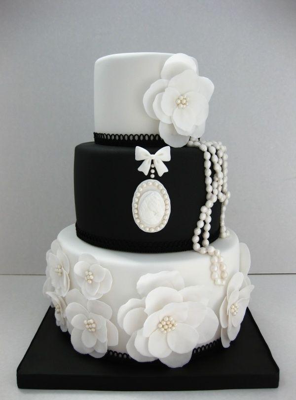 Black And White Cake  Southern Blue Celebrations Black & White Wedding Cake Ideas