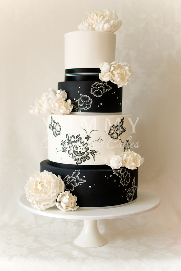 Black And White Cake  Wedding Cakes Black And White