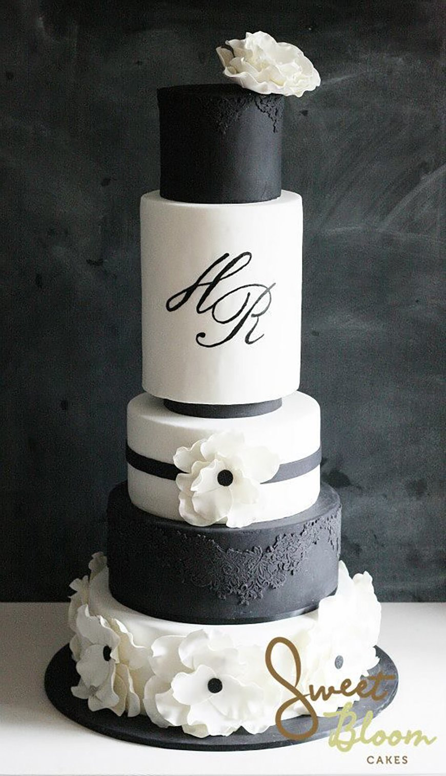 Black And White Cake  Black and White Wedding Theme Wedding Ideas by Colour