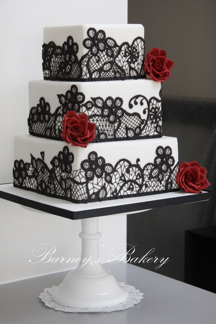 Black And White Cake  49 Amazing Black and White Wedding Cakes Deer Pearl Flowers