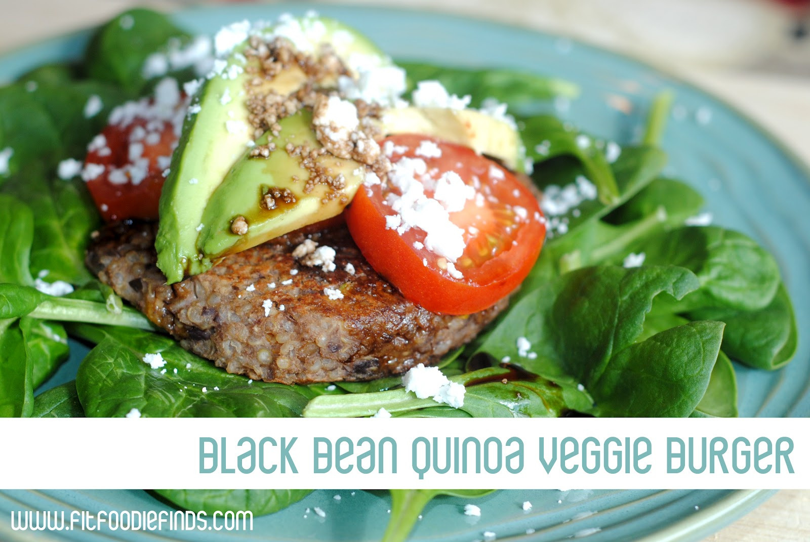 Black Bean And Quinoa Burger  Black Bean Quinoa Veggie Burgers Fit Foo Finds