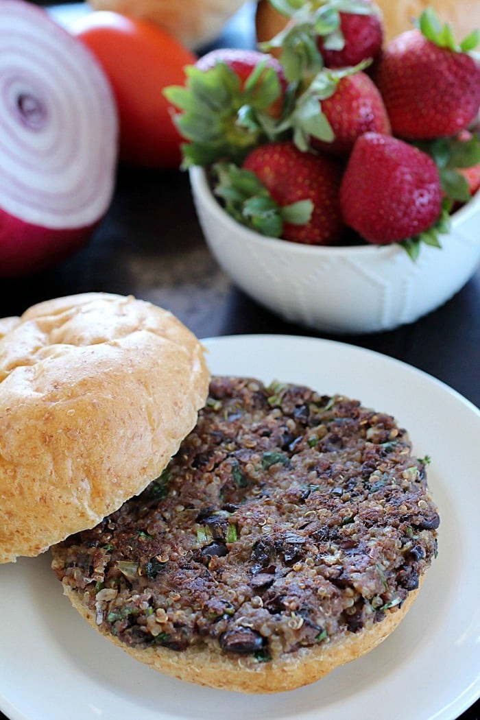 Black Bean And Quinoa Burger  Quinoa Black Bean Burgers Yummy Healthy Easy