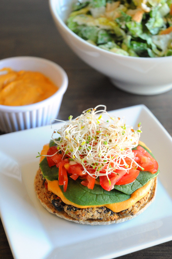 Black Bean And Quinoa Burger  Vegan Bean Quinoa Burger