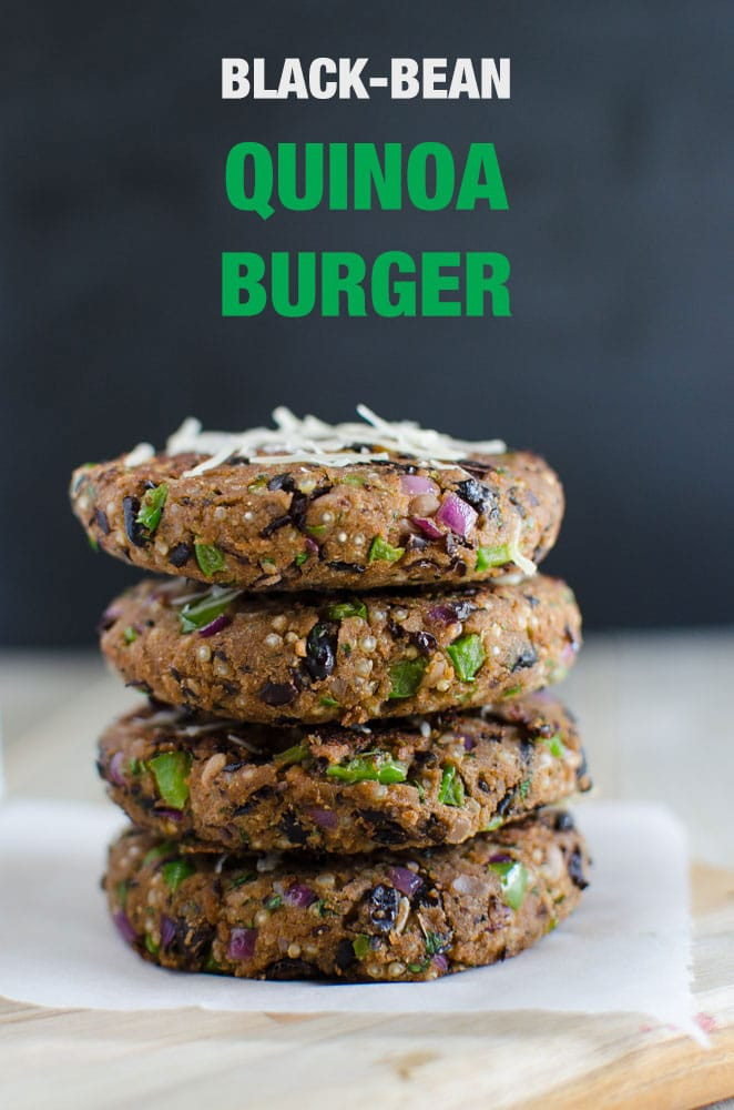 Black Bean And Quinoa Burger  Black Bean Quinoa Burger Healthy and Vegan