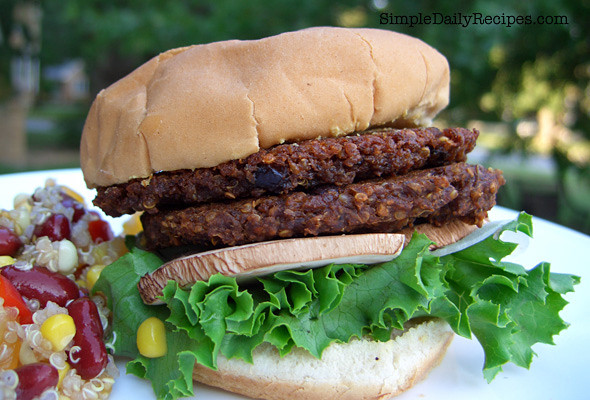 Black Bean And Quinoa Burger  Black Bean with Quinoa Burgers Simple Daily Recipes