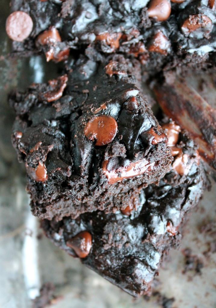 Black Bean Avocado Brownies  Black Bean Avocado Chocolate Chip Fudge Brownies gluten