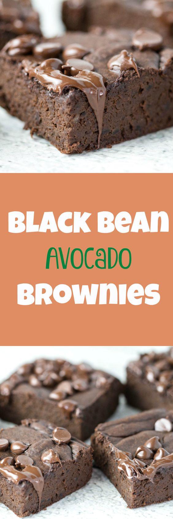 Black Bean Avocado Brownies  Black Bean Avocado brownies