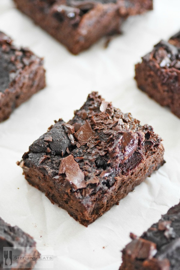 Black Bean Avocado Brownies  Healthier Flourless Black Bean Avocado Brownies ⋆ Sizzling