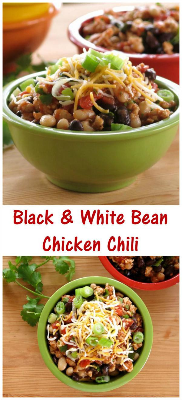 Black Bean Chicken Chili  Black and White Bean Chicken Chili McSkilletSauce