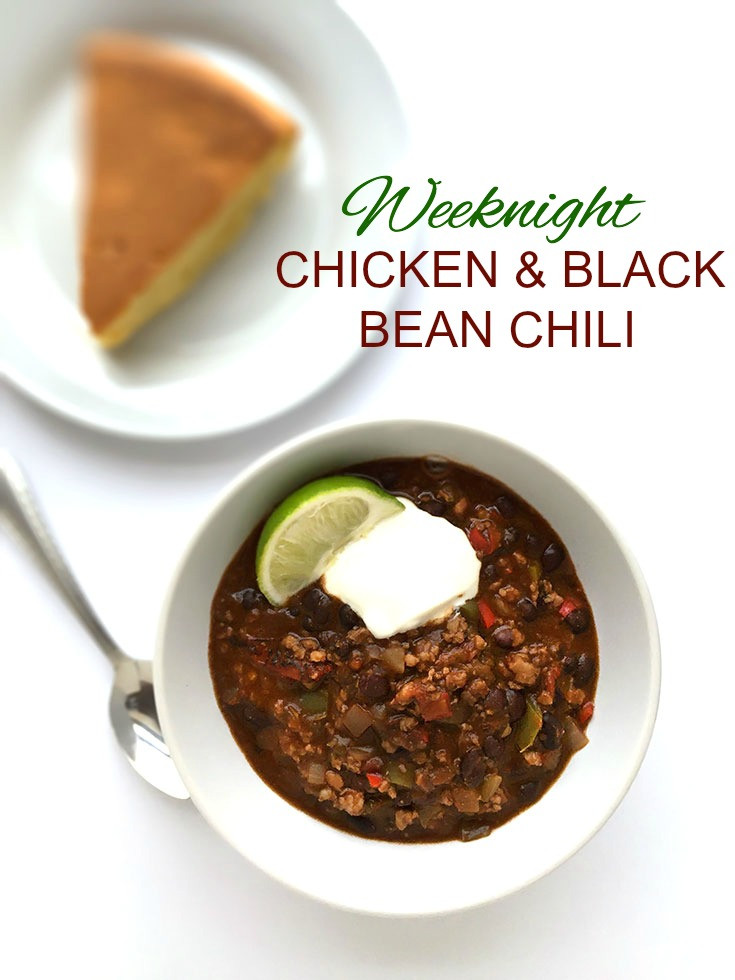 Black Bean Chicken Chili  Weeknight Chicken and Black Bean Chili Healthier Dishes