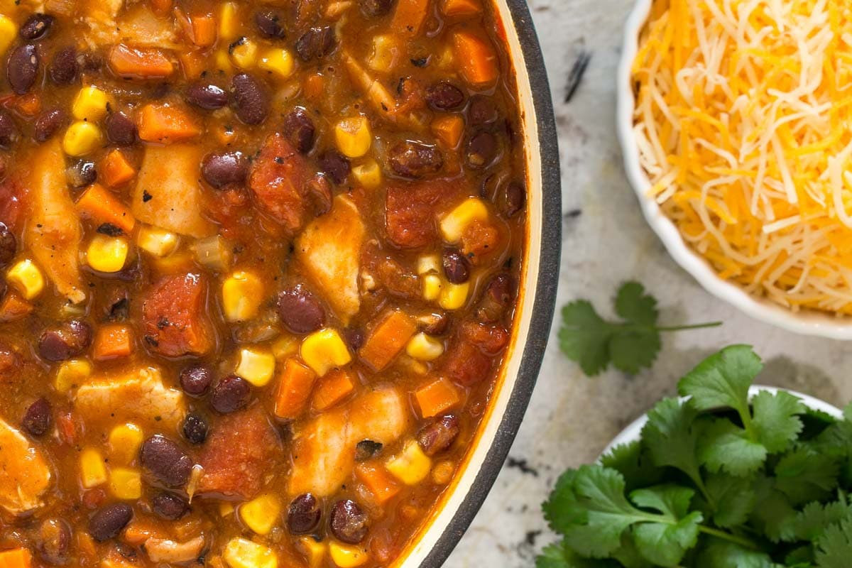 Black Bean Chicken Chili  Healthy Chicken Black Bean Chili