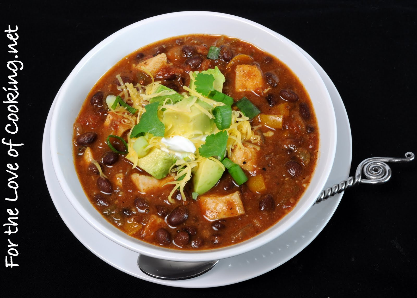 Black Bean Chicken Chili  Chili with Black Beans and Grilled Chicken