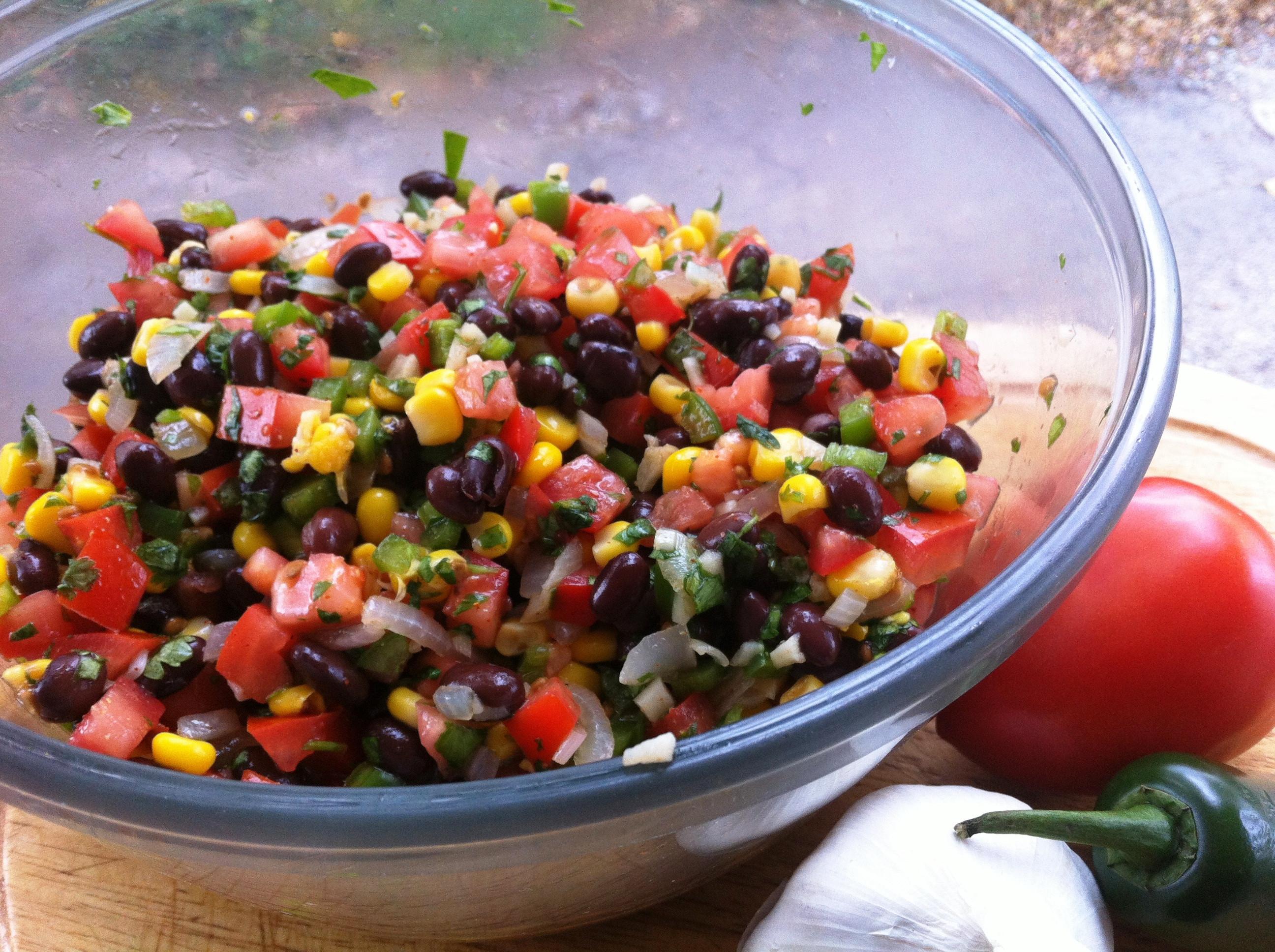 Black Bean Corn Salsa  Corn Tomato and Black Bean Salsa